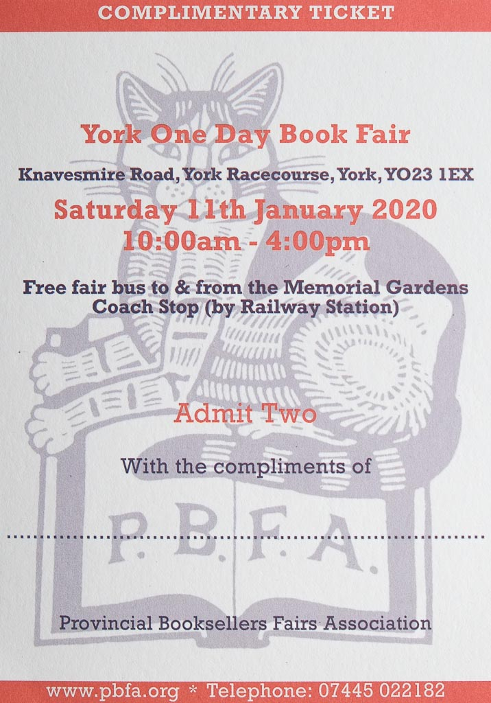 York Book Fair | 11 January 2020 | Poster