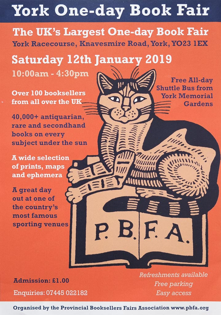York New Year Book Fair | 12 January 2019 | Poster