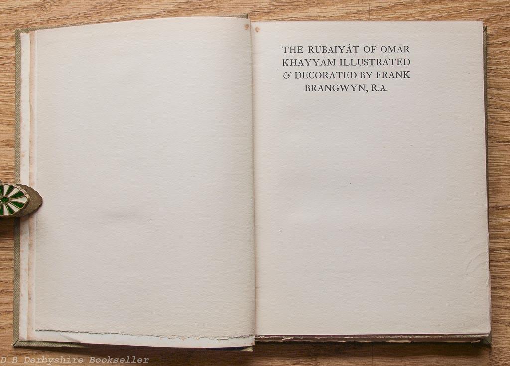Rubaiyat of Omar Khayyam | T. N. Foulis, 1920 | illustrated by Frank Brangwyn
