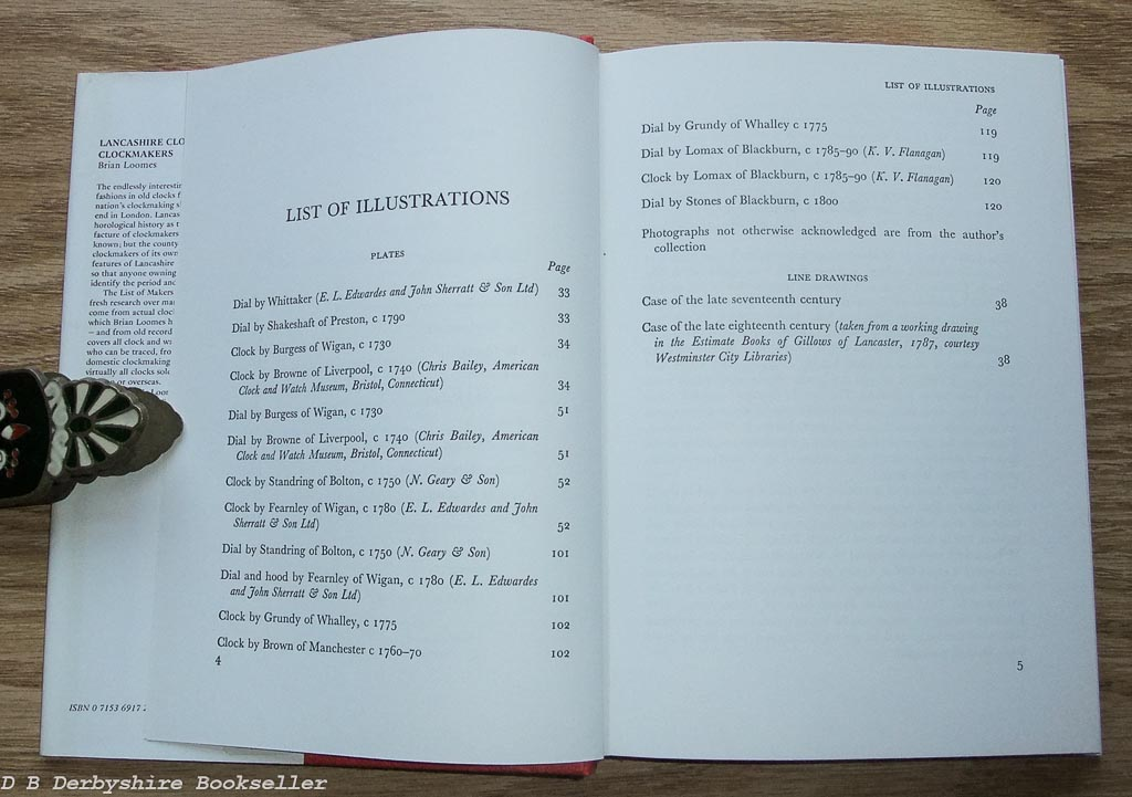 Lancashire Clocks and Clockmakers by Brian Loomes (David & Charles, 1975)