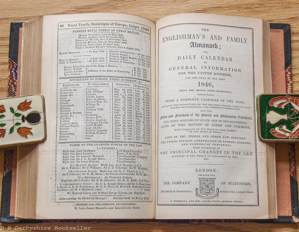 Almanack and Diary | 1846 | Moore | White | Woolhouse