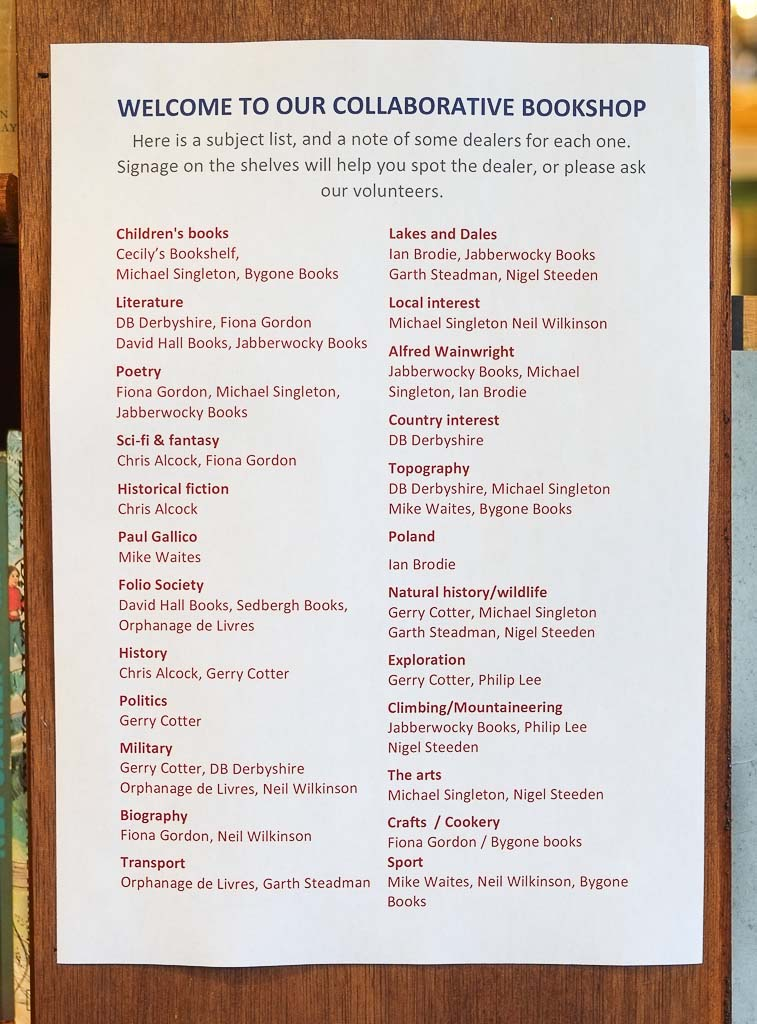 Sedbergh Information and Book Centre   Books Dealers