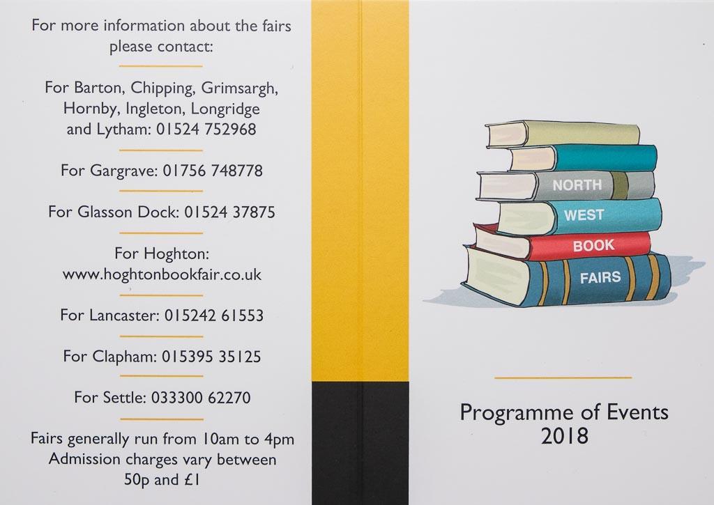 North West Book Fairs | 2018 Calendar