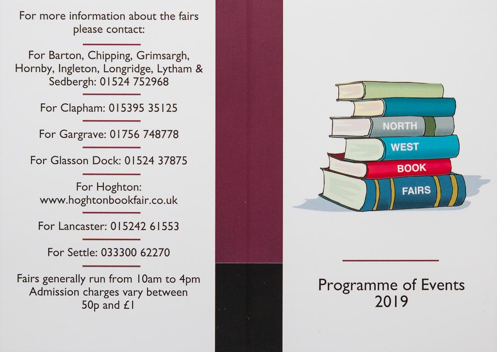 North West Book Fairs | 2019 Calendar