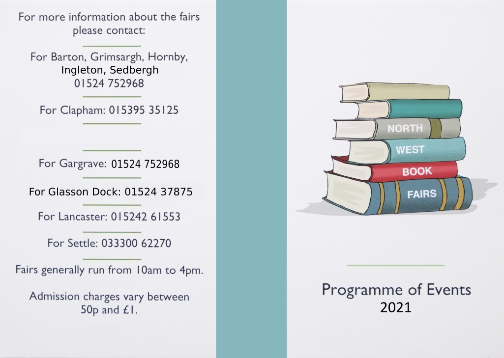 North West Book Fairs | 2021 Calendar